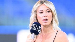 Diletta Leotta, all'Olimpico è nero sexy