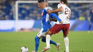 Napoli-Roma: la partita in foto