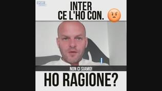 """Biasin: """"Ce l'ho con l'Inter"""""""