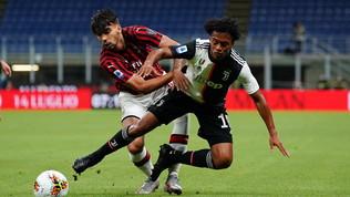 Lo spettacolo di Milan-Juventus in foto