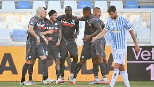 L'Udinese strapazza la Spal: Di Biagio con un piede in Serie B