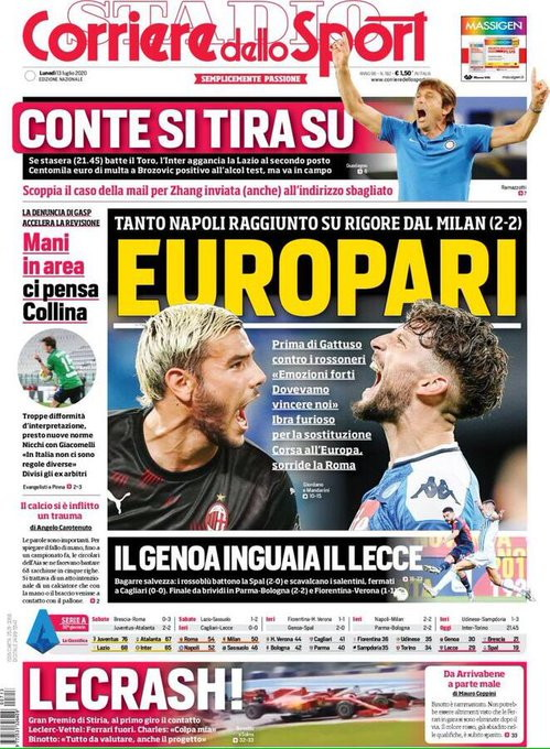 Lo sport sui quotidiani italiani ed esteri