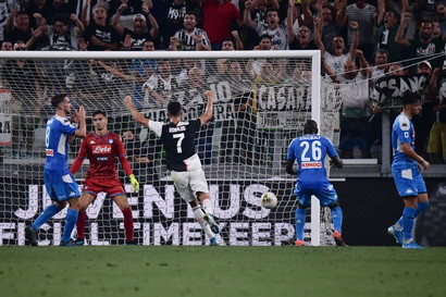 31/8/19 Juve-Napoli 4-3 - subito Sarri contro il suo passato: Juve show per un'ora, poi il Napoli recupera 3 gol ma si arrende per l'errore di Koulibaly.