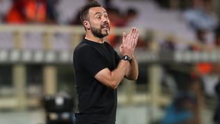 """De Zerbi: """"Convinzione con la Juve. Possiamo prendere il Milan"""""""