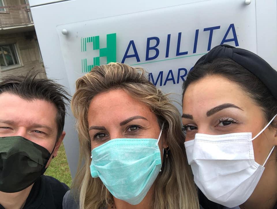 Il nuovo primo allenatore Daniele Turino, la ritrovata Francesca Marcon e la confermata Vittoria Prandi.