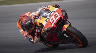 Marquez è subito il più veloce, Rossi 3° dietro a Rins