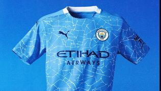 Manchester City, la nuova maglia è un mosaico