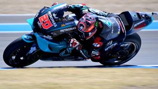 Quartararo spaventa Marquez: giro record a Jerez. Gran balzo di Rossi