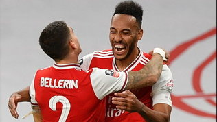 Aubameyang stende il City, l'Arsenal vola in finale di Fa Cup