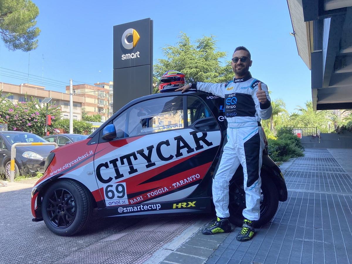CITYCAR Bari debutta nella smart EQ fortwo e-cup 2020.