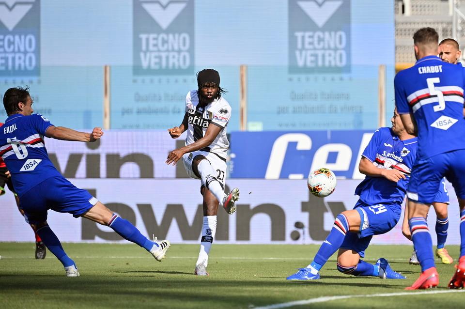 Le immagini della sfida del Tardinicon la clamorosa rimonta dei blucerchiati nella ripresa da 0-2 a 3-2