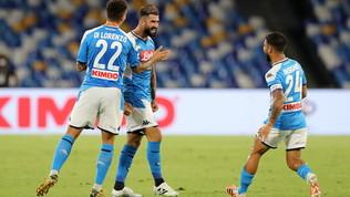 Il Napoli non si ferma al palo, iella record per il Sassuolo