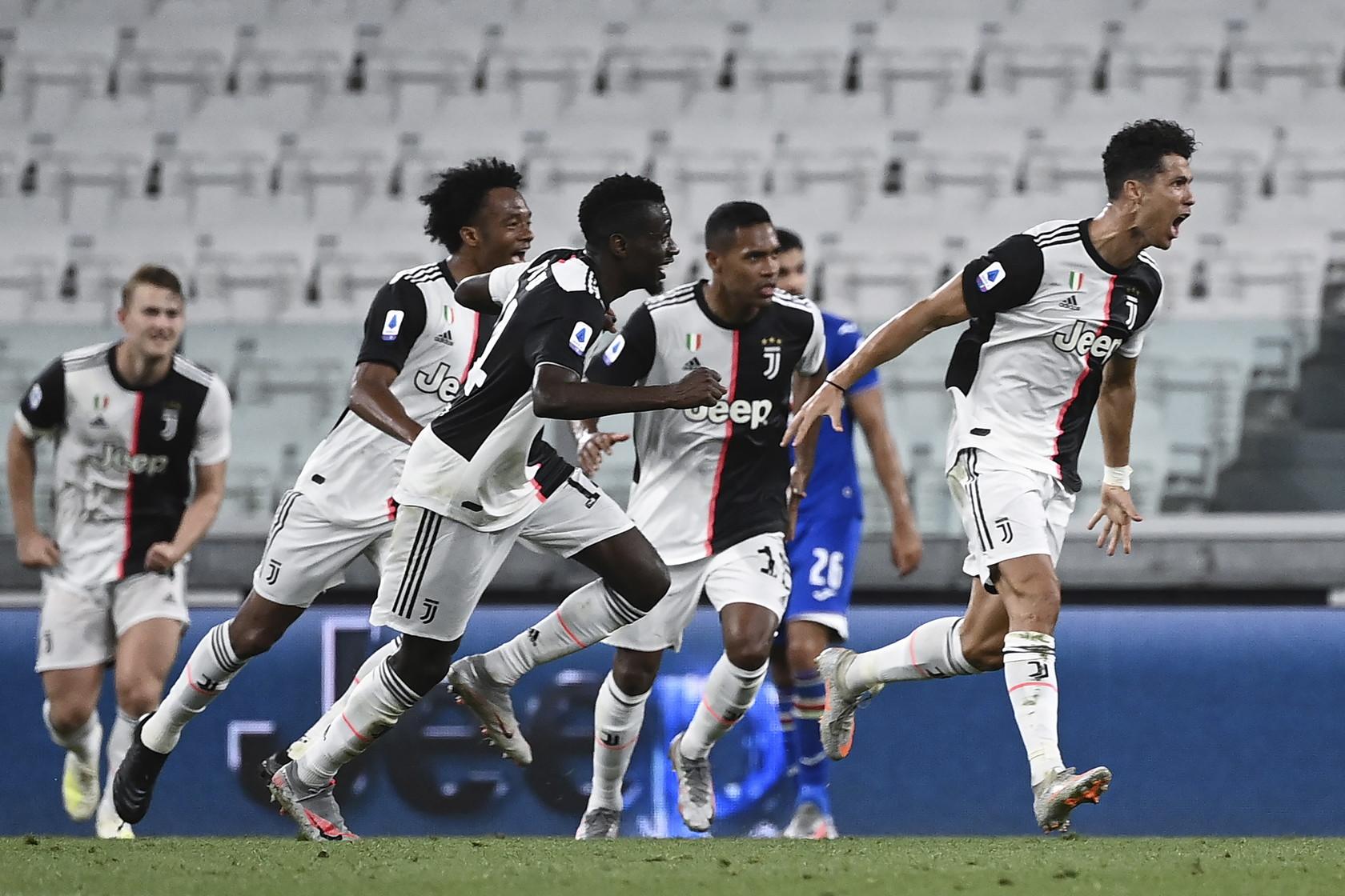 26/07/2020 La Juve batte la Sampdoria per aggiudicarsi aritmeticamente lo scudetto e come spesso accaduto è decisivo Cristiano Ronaldo.