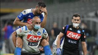 Napoli, suona l'allarme difesa: Maksimovic in dubbio per il Barça