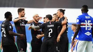 Ibra, Calhae Leao: il Milan distrugge la Samp ma sfuma il 5° posto