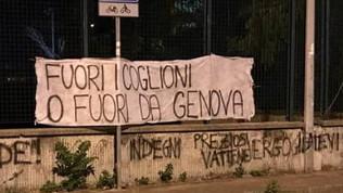 Genoa, i tifosi minacciano la squadra: striscione al Signorini