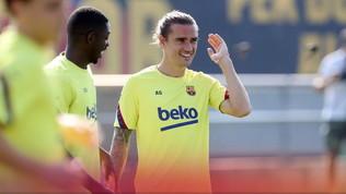 Barça, due assi per spaventare Napoli: Dembelé e Griezmann in gruppo