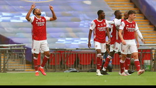 Aubameyang-show: l'Arsenal vince l'FA Cup, resa Chelsea. Pedro ko