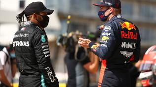 """Hamilton: """"Vittoria col cuore in gola"""". Verstappen: """"Soddisfatto"""""""