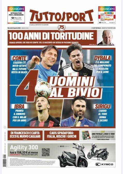 Le prime pagine, e non solo, dei quotidiani italiani ed esteri