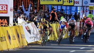 Giro di Polonia: Jakobsen gravedopo una caduta in volata