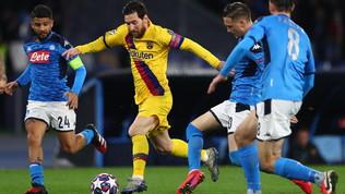 Barcellona-Napoli in esclusiva in chiaro su Canale 5 e Sportmediaset.it