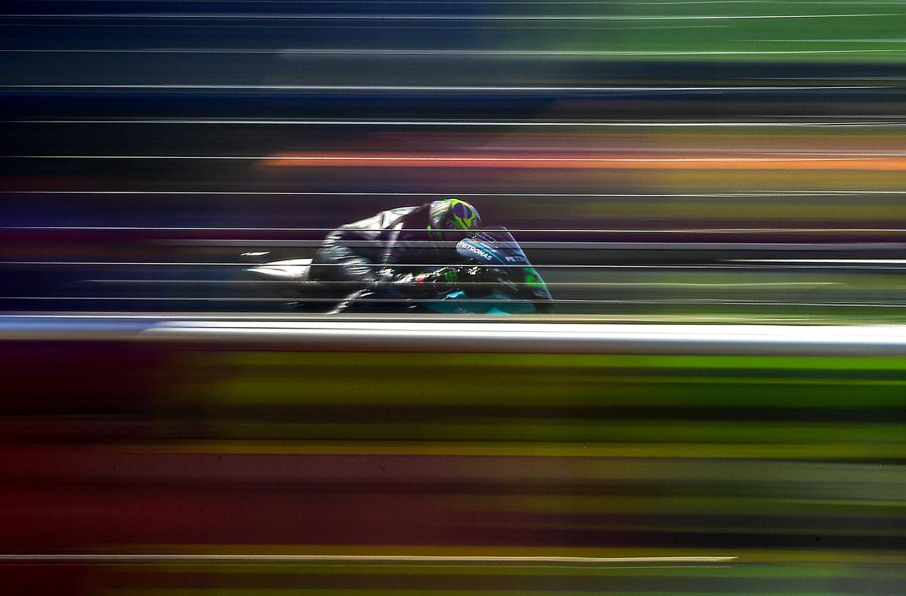 <p>Prestazione super del pilota del team Avintia che precede le Yamaha del team Petronas di Quartararo e Morbidelli</p>