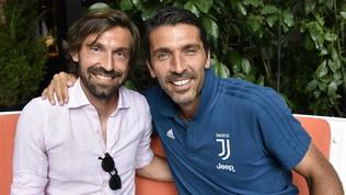 """Buffon accoglie Pirlo: """"Quindi ora devo chiamarti mister?"""""""