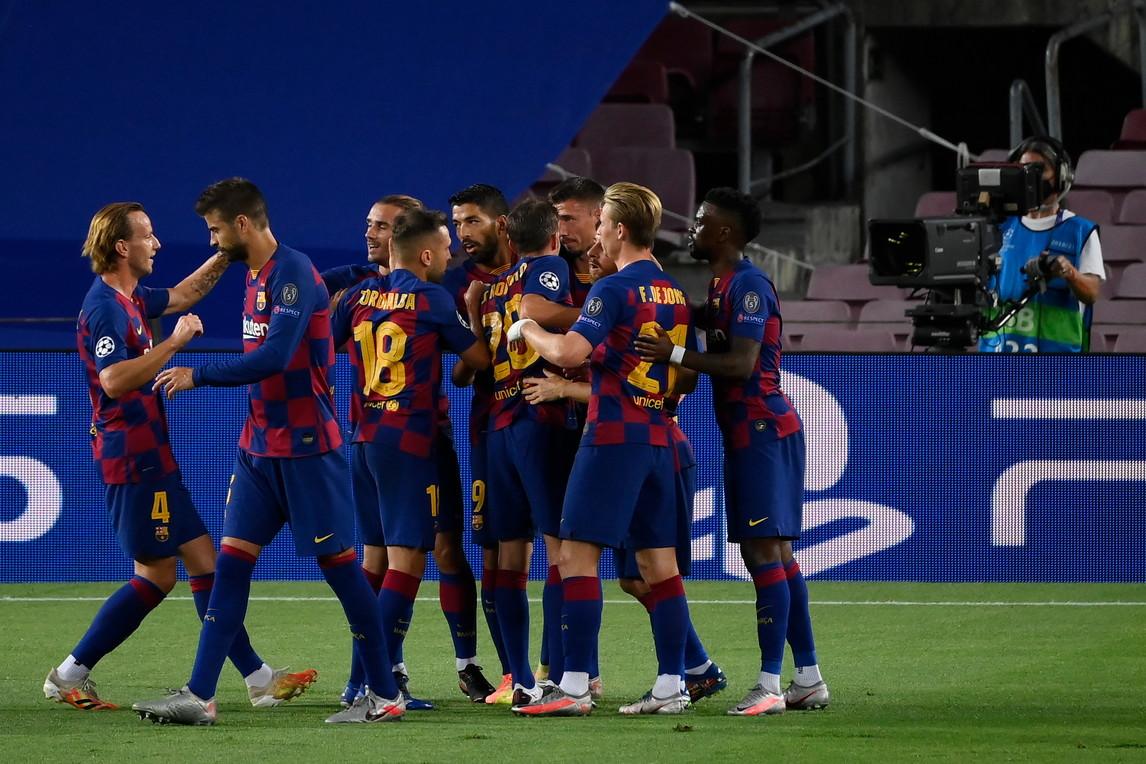 <p>Barcellona-Napoli 3-1, le migliori foto</p>