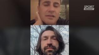 """Pirlo e la chat con Cannavaro: """"Mi piace il 4-3-3"""""""