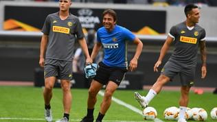"""Il""""torello"""" di Conte: il mister si scalda per il LeverkusenIL VIDEO"""