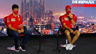 """Vettel: """"Acque agitate ma mi fido della Ferrari""""   Leclerc fiducioso"""