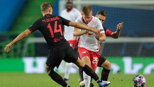 Lipsia in semifinale con Dani Olmo-Adams: eliminato l'Atletico