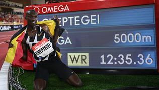 Cheptegeicancella Bekele: nuovo record mondiale dei 5000 metri