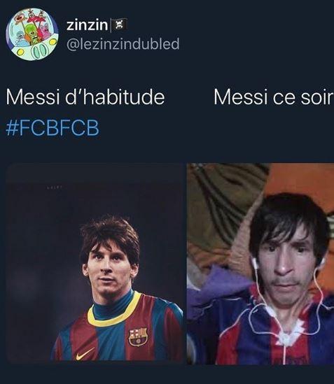 <p>Messi di solito e Messi questa sera</p>
