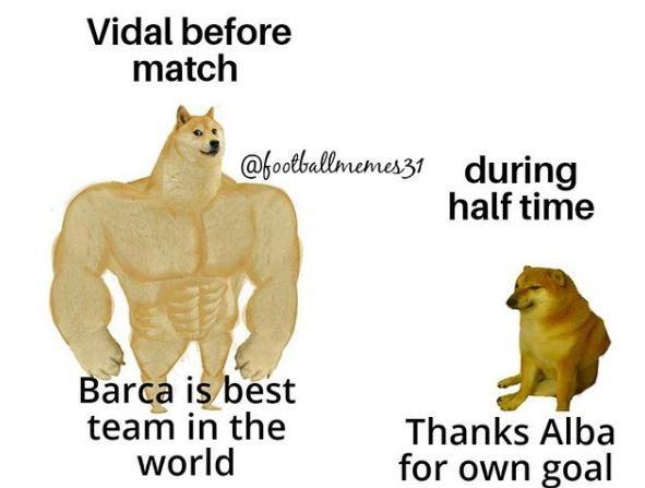 Vidal prima della partita: siamo la squadra migliore del mondo   Vidal durante la partita: grazie Alaba per l'autogol