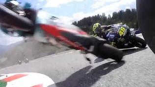 Botto Morbidelli-Zarco, moto distrutte: che rischio per Rossi