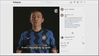 """Zhang, messaggio ai tifosi dell'Inter: """"Stasera state al sicuro"""""""