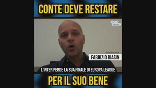 """Biasin: """"Conte deve restare all'Inter per il suo bene"""""""