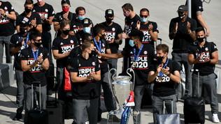Champions: i campioni del Bayernsono tornati a casa