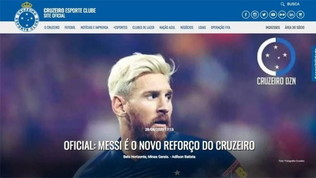 """Il sito del Cruzeiro: """"Messi è nostro!"""". Ma era lo scherzo di un hacker"""