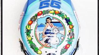 Giovinazzi, casco speciale a Monza: cartolina dall'Italia