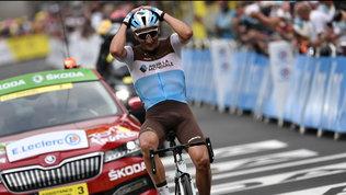 Peter trionfa dopo 139 km di fuga, Pogacar accorcia in classifica
