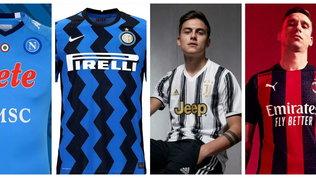 Serie A, tutte le nuove maglie della prossima stagione