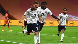 L'Italia s'è desta, prima vittoria post-lockdown: Barella stende l'Olanda