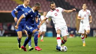 La Polonia vince in rimonta con la Bosnia e fa un favore all'Italia