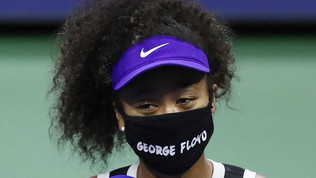 US Open:Osaka, mascherina in omaggio a George Floyd
