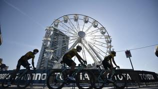 """Tirreno-Adriatico: il """"Muro del Pirata"""" premia Woods, Nibali a 33 secondi"""