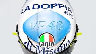A Misano un casco vietato ai minori per Rossi