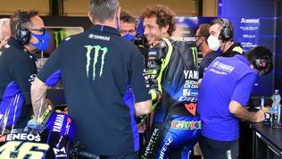 Rossi monstre,   tris Yamaha nelle libere 3